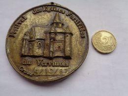 Réf: 98-16-211              Médaille   FESTIVAL DES EGLISES FORTIFIEES DU VERVINOIS - Obj. 'Remember Of'