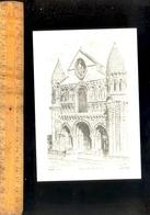 POITIERS Vienne 86 : L'église Notre Dame La Grande  Illustration Ducourtioux - Poitiers