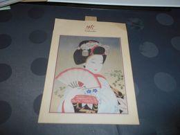 411B, Calendrier 1987 Du Japon, Jolie Femme Nippone - Calendriers