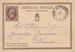 S. VITO AL TAGLIAMENTO - 1877 ,  Emanuel II. , Nach Treviso - Entero Postal