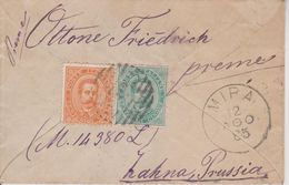 B4 Italia Italy Italien 1885 Lettero Mira Zahna - Storia Postale