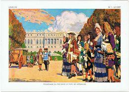 """** LOUIS XIV. ** 10 AQUARELLES ORIGINALES DE """" LEDOUX """" // TEXTE DE Mr FAURE DIRECTEUR D'ÉCOLE HONORAIRE ** - Histoire"""