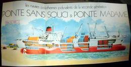 MARINE PAQUEBOT POINTE MADAME ECLATE DU NAVIRE  DE LA COMPAGNIE GENERALE TRANSATLANTIQUE - Boats