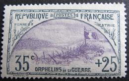 Lot FD/1123 - 1917 - AU PROFIT DES ORPHELINS DE LA GUERRE - N°152 NSG - Cote : 190,00 € - France
