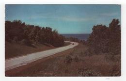 Two-lane Highway Near Ocean [#2440] - Postcards