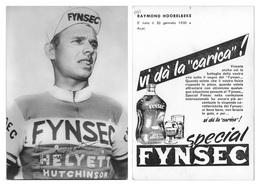 CARTE CYCLISME RAYMOND HOORELBEKE TEAM FYNSEC 1960 - Cycling