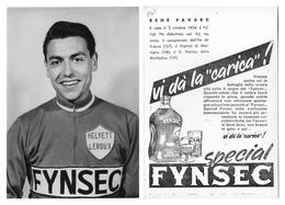 CARTE CYCLISME RENE PAVARD TEAM FYNSEC 1960 - Cycling