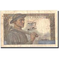 France, 10 Francs, 10 F 1941-1949 ''Mineur'', 1946, 1946-09-26, TB, KM:99e - 1871-1952 Anciens Francs Circulés Au XXème