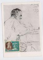 CARTE MAXIMUM CM Card USSR RUSSIA Literature Writer Philosopher Leo Tolstoi - 1923-1991 UdSSR
