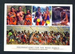 SWAZILAND  -  Preparations For The Reed Dance   Multi View  Used Postcard As Scans - Swaziland