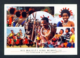 SWAZILAND  -  King Mswati III  Multi View  Used Postcard As Scans - Swaziland