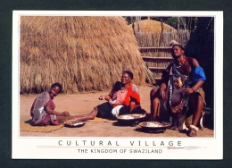 SWAZILAND  -  Cultural Village  Used Postcard As Scans - Swaziland