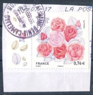 FRANCE 2015 Lyon Roses Oblitéré Saint Denis Camélias La Reunion - Gebruikt