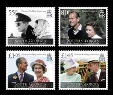 South Georgia 2017 Mih. 702/05 HM Queen & HRH Prince Philip Platinum Anniversary MNH ** - South Georgia