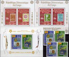 Kongo-Kinshasa Blocks 249+251,Sri Lanka 1525/6,ZD+Bl.102 ** 66€ Hb Sheets Bloc Stamp On Stamps 50 Year Bf CEPT 2006 - Stamps