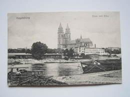 MAGDEBURG - Dom Mit Elbe Cachet Militaire 1919 TRESOR ET POSTES - Magdeburg