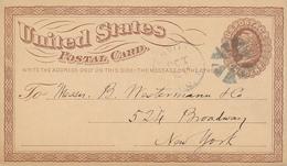 GREENVILLE S.C. - 1873 , Postal Card Nach New York - ...-1900