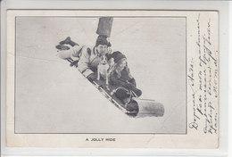 SPORTS D'HIVERS D'AUTREFOIS - SKI, SAUT A SKI,PATINAGE ETC - SOUVENIRS- 1907 - DOS UNIQUE - ( Pli ) - Canada