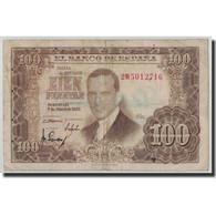 Billet, Espagne, 100 Pesetas, 1953, 1953-04-07, KM:145a, B - [ 3] 1936-1975 : Regency Of Franco