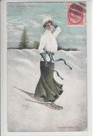 SPORTS D'HIVERS D'AUTREFOIS - SKI, SAUT A SKI,PATINAGE ETC - SOUVENIRS- 3.02.07 - WINTER GIRL - Canada