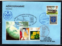 026 SLOVAKIA -WINTER OLYMPIC GAMES NAGANO 1998 - AEROGRAM - Ganzsachen