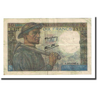 France, 10 Francs, 10 F 1941-1949 ''Mineur'', 1947-01-09, TB, Fayette:8.17 - 1871-1952 Circulated During XXth