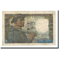 France, 10 Francs, 10 F 1941-1949 ''Mineur'', 1947-01-09, TB, Fayette:8.17 - 1871-1952 Anciens Francs Circulés Au XXème
