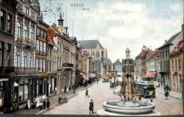 Breda - Markt (animatie, Tram Tramway, Gekleurd 1907) - Breda