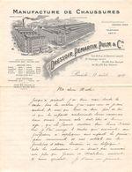 Lettre - Facture - PARIS - 1914 - DRESSOIR, PEMARTIN, PULM & CIE - Manufacture De Chaussures - 1900 – 1949