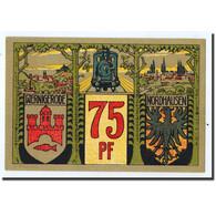 Billet, Allemagne, Wernigerode, 75 Pfennig, Carte, 1921, 1921-03-01, SPL - Germany