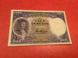 100PESATAS 1931 ( TTB) - [ 1] …-1931 : First Banknotes (Banco De España)