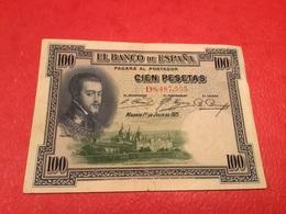 100PESATAS 1925 ( TTB) - [ 1] …-1931 : Premiers Billets (Banco De España)