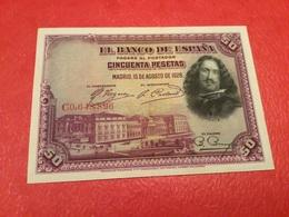 50 PESATAS 1928 ( TTB) - [ 1] …-1931 : First Banknotes (Banco De España)