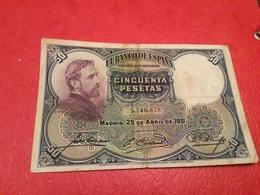 50 PESATAS 1931 ( TTB) - [ 1] …-1931 : First Banknotes (Banco De España)