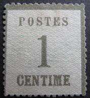 Lot FD/1216 - 1870 - ALSACE LORRAINE - N°1 NSG (léger Pelurage) - Cote : 50,00 € - Elsass-Lothringen