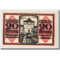 Billet, Allemagne, Nordlingen, 20 Pfennig, Tour, 1918, 1918-10-02, SPL, Mehl:978 - Germany