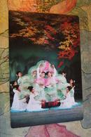 KOREA NORTH 1970s  Postcard - Dance With Fans - Korea, North