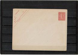 CTN27 - ENV. SEMEUSE LIGNEE 10c  147x112 DATE 646 PAPIER VERGE - Postal Stamped Stationery