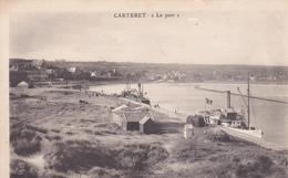 50. CARTERET. CPA . RARETÉ . LE PORT + TEXTE - Carteret