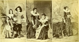 Mode Feminine Européenne Du XVIe Siécle Costumes Guiterne Theorbe? Ancienne Photo Calavas 1890 - Photographs
