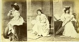 Mode Feminine Européenne Du XVIe Siécle Costumes Guiterne? Ancienne Photo Calavas 1890 - Photographs