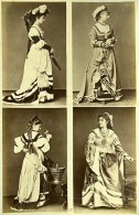 Mode Feminine Européenne Du XVIe Siécle Costumes Ancienne Photo Calavas 1890 - Photographs