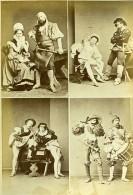 Mode Européenne Du XVIe Siécle Costumes Couples Ancienne Photo Calavas 1890 - Photographs
