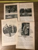 ENV 1905 PLAISIRS CHAMPETRES A PARIS CHARMEUR D OISEAUX MIDINETTES RANELAGH - Colecciones