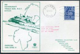 1973 Norway Bergen Hovercraft Card - Norway