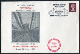1976 GB Menai Bridge Wales Anglesey Cover - 1952-.... (Elizabeth II)