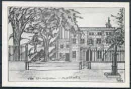 The Island Hall, Alderney, Sonya Dean (Designer) SIGNED Postcard - Alderney