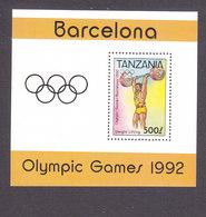 Tanzania, Scott #892, Mint Never Hinged, Olympics, Issued 1992 - Tanzania (1964-...)