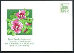 Bund PU113 B1/009 Privat-Umschlag HIBISCUS HANS-FRIEDRICH REESE  Überlingen1983 - Heilpflanzen