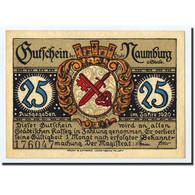 Billet, Allemagne, Naumburg A.S. Stadt, 25 Pfennig, Eglise, 1920, Undated, SPL - Germany